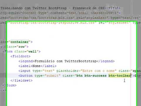 Trabalhando com os elementos de formulários do Twitter Bootstrap