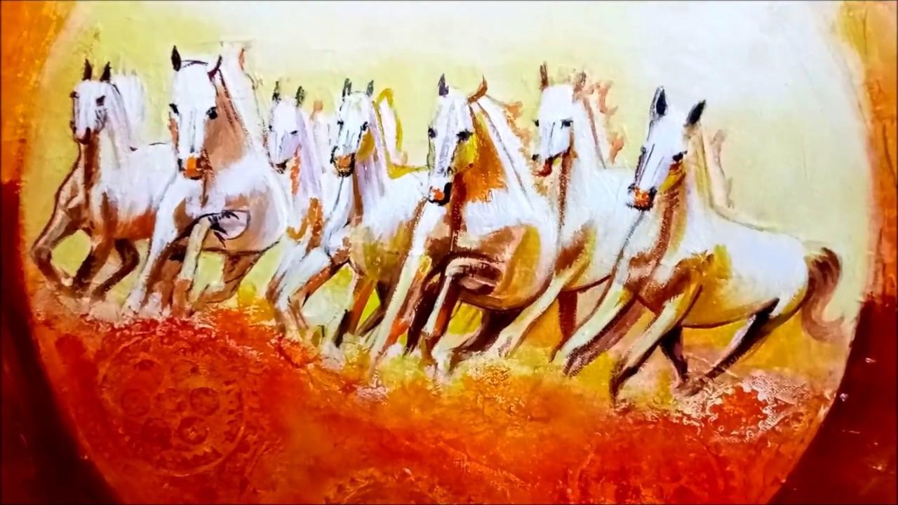 Running horses painting vastu