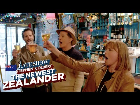 Stephen Colbert Learns How To Act Like A Kiwi In Wellington, New Zealand