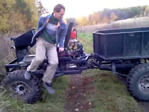 Полноприводный трактор своими руками
