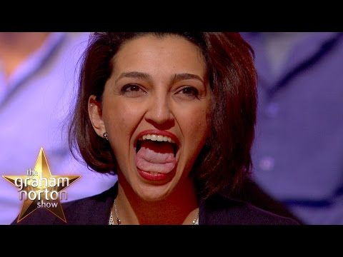 Elizabeth Olsen and Jeremy Renner Impressed by Tsunami Tongue - The Graham Norton Show