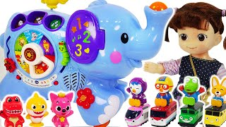 Titipo broke down! Vtech Pull & Discover Activity Elephant show up with Pororo #PinkyPopTOY