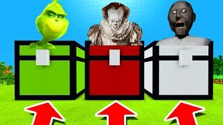 Minecraft PE : DO NOT CHOOSE THE WRONG CHEST! (Grinch, Pennywise & Granny)