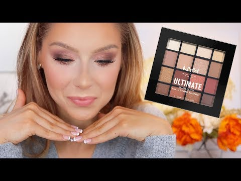 """NYX """"Warm Neutrals"""" Ultimate Shadow Palette Tutorial + Review"""