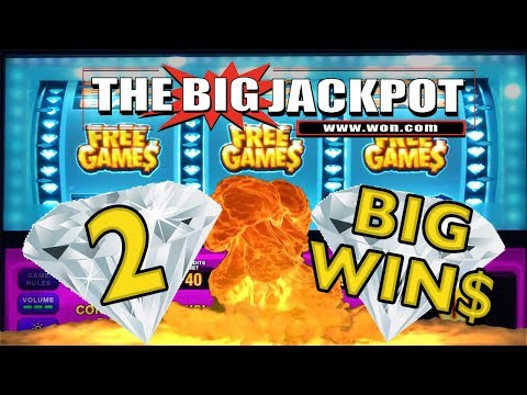💎 2 BIG WIN$ 💎 DOUBLE DIAMOND PAYS BACK 2 BACK! with The Big Jackpot