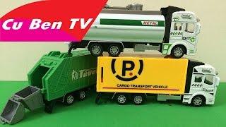 Xe Bồn, xe chở rác, xe bồn chở xăng, xe tải chở hàng - ĐỒ CHƠI ► Cu Ben TV