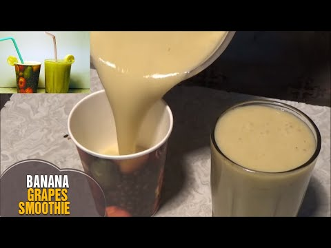 Summer Special Banana Grapes Smoothie |  Morning Healthy Energy Drink Recipe by Latha Channel