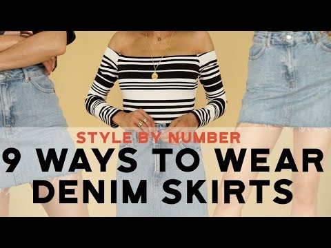 9 Ways To Wear A Denim Skirt - Style By Number | Aimee Song