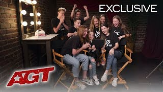 Dunkin' Presents AGT Golden Buzzer Reactions: Light Balance Kids - America's Got Talent 2019