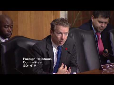 Sen. Rand Paul Questions Obama Administration at SFRC on America's Role in the World - May 12, 2016
