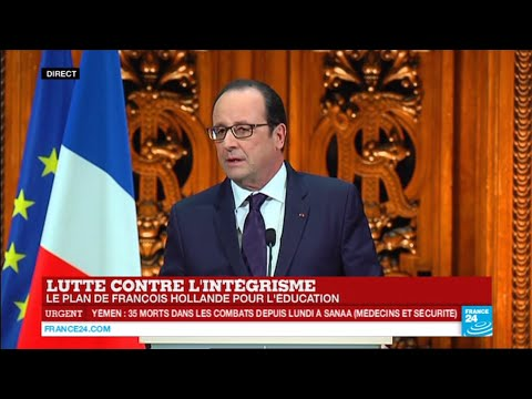 Lutte contre l'intégrisme : Le plan de François Hollande pour l'éducation