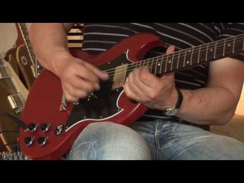 Gibson SG Special worn cherry with handmade Barfuss