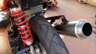 akhirnya latihan di sikuit gery mang subang pakai motor yamaha mio matic race 150cc knalpot by kawah