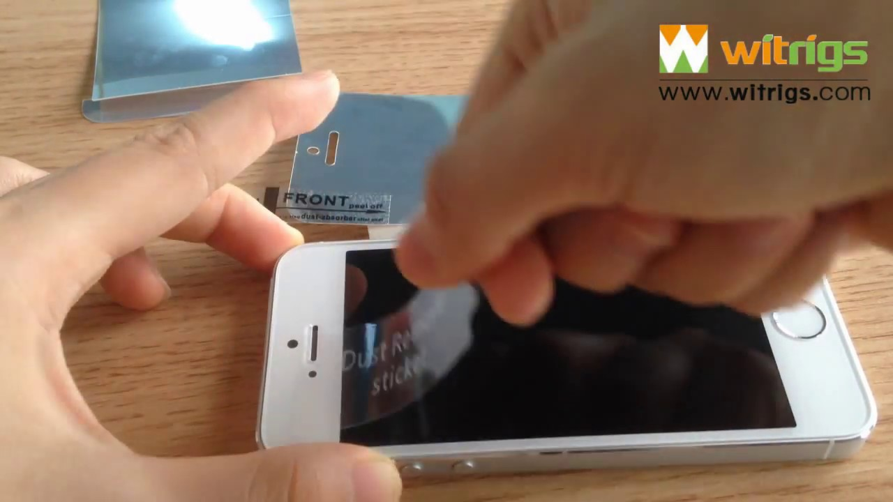 The iphone 5s mirror screen protector youtube for Mirror iphone to tv