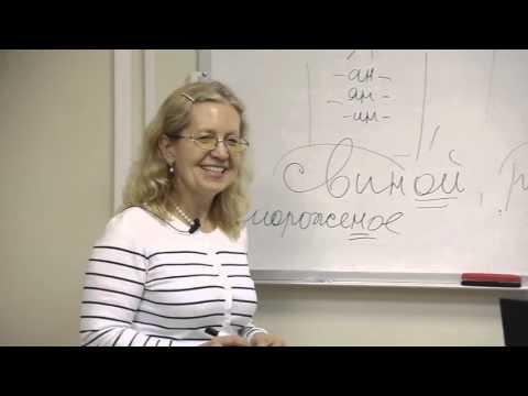 Русский язык. -Н- -НН- в существительных и прилагательных