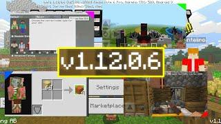O QUE MUDOU MINECRAFT PE 1.12.0.6 - BUG IMPORTANTE CORRIGIDO E MELHORIAS (WIN10, XBOX,PE)