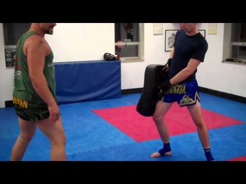 Tutorial on Muay Thai Rear Round Kick-How to gain Power! Image 1