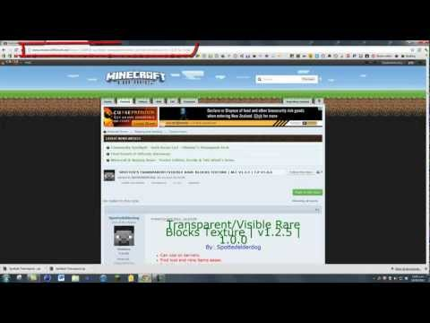 Minecraft Texturepack | How to Download and Install Transparent/Visible Rare blo