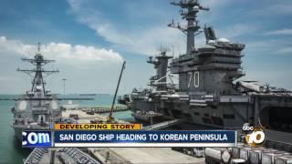 San Diego ship heading to Korean peninsula