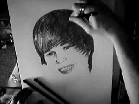 Justin Bieber X Factor Baby Drawing, Nathan Wyburn