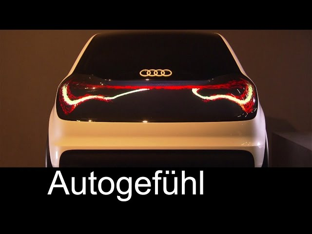 "New Audi Matrix OLED lighting & ""the swarm"" tail lights - tech and design future lab"