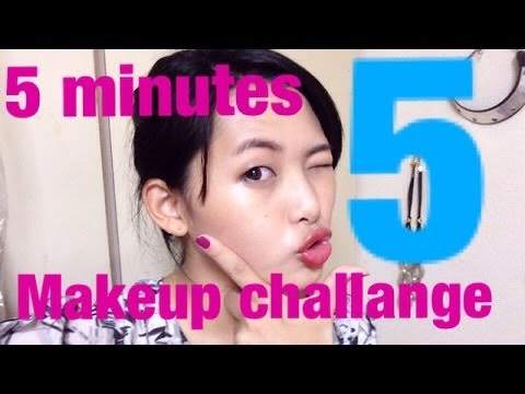5minutes make up challange! 5分でフルメイク!
