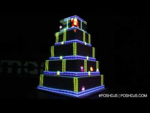 posh donkey kong projector wedding cake youtube. Black Bedroom Furniture Sets. Home Design Ideas