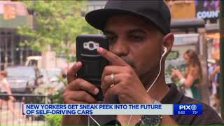 First driverless shuttle takes ride through Time Square
