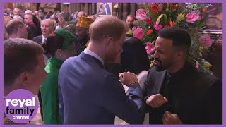 Harry 'Bumps Elbows' With Craig David as Commonwealth Service Marks Final Engagement