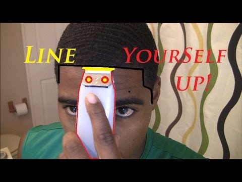 How To Give Yourself A Line Up Amp Trim Mustache Youtube