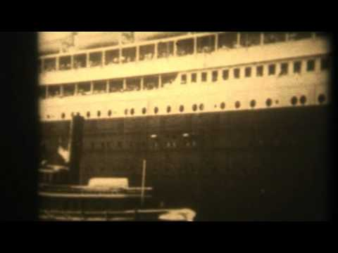 TITANIC 1912 ORIGINAL FILM  FOOTAGE VERY VERY RARE FILM.