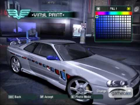 Download Nissan Skyline 2 Fast 2 Furious In NFS Carbon Video 3gp Mp4 Songs Mp3