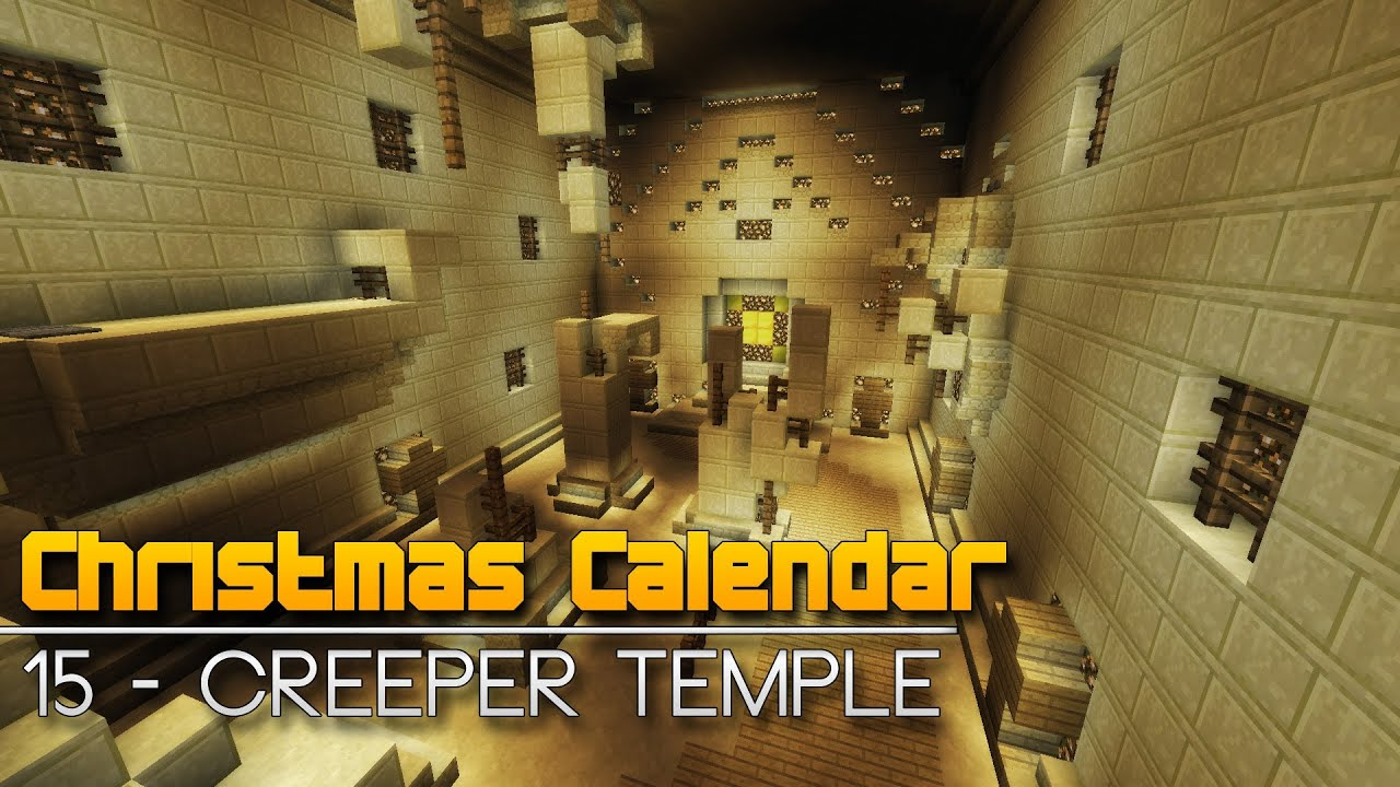 Christmas Calendar Parkour : Christmas calendar creeper temple minecraft parkour