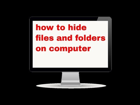 how to hide file/folder on your computer/pc/How to Hide Private Folders and Files