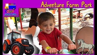 Rowan visits an adventure park with tractor ride and farm animals