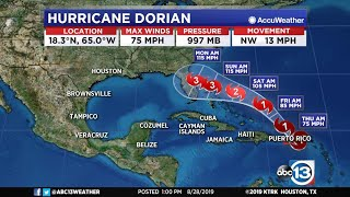 Dorian Is Officially A Category 1 Hurricane
