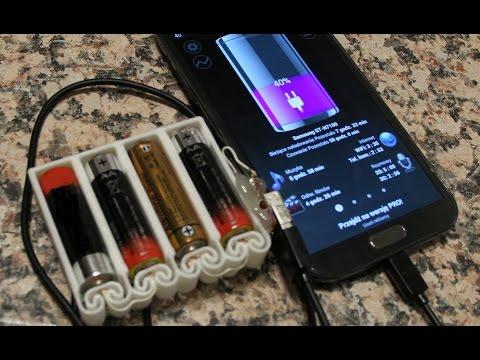 Jak Zrobić Przenośną Ładowarkę Do Telefonu Na Baterie AA/ How To Make Portable USB Charger