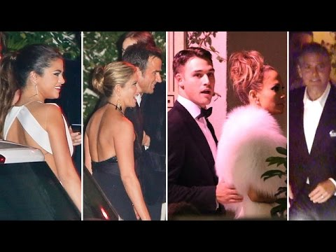 Celebs Party Post Golden Globes: Jennifer Aniston, Selena Gomez, George Clooney And J.Lo thumbnail