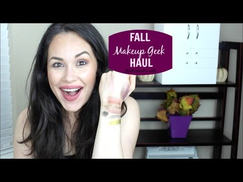 MAKEUP GEEK EYESHADOWS & PIGMENTS FOR FALL HAUL + SWATCHES