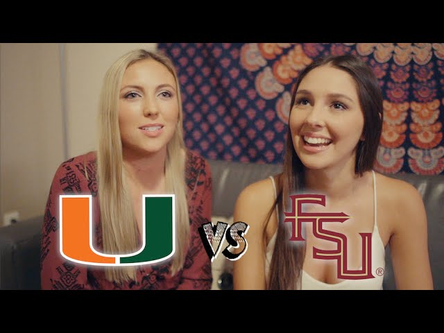 Florida State University Students VS. University of Miami Students : Rivalry Week 2015