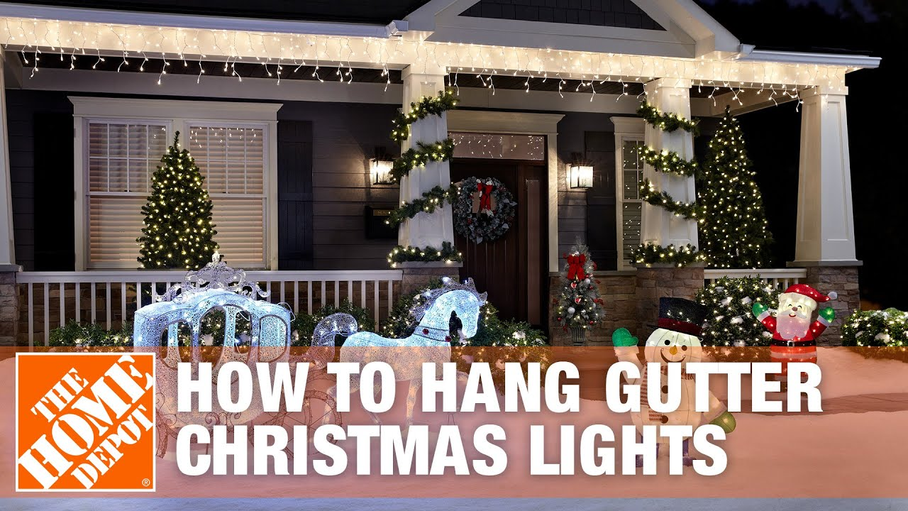 How to hang christmas lights on your gutter the home