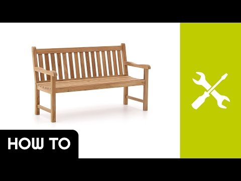 How to: Aufbau Sunyard Wales Gartenbank | Kees Smit Gartenmöbel