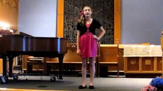 """Chloe Rossi singing, """"Bessie the Black Cat""""; RCM Grade 3"""