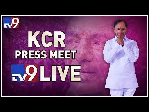KCR first press meet after winning the 2018 elections || KCR latest speech - TV9