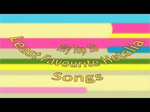 My Top 10 Least Favourite Character Songs