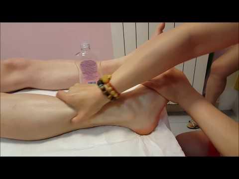 Chinese Girl powerful Reflexology Feet Massage with oil - ASMR video
