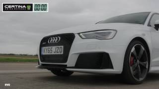 Mercedes A45 AMG vs Audi RS3   Which is fastest؟ ¦ evo DRAG BATTLE