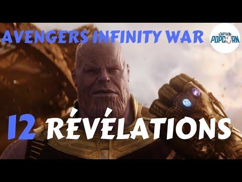 Avengers Infinity War : 12 RÉVÉLATIONS à partir du trailer