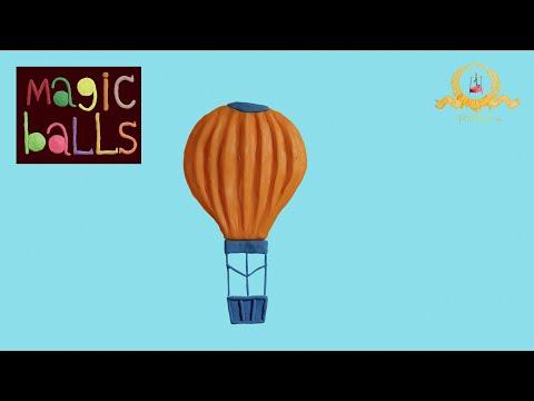 Magic Balls - Air baloon - Educational cartoons for kids