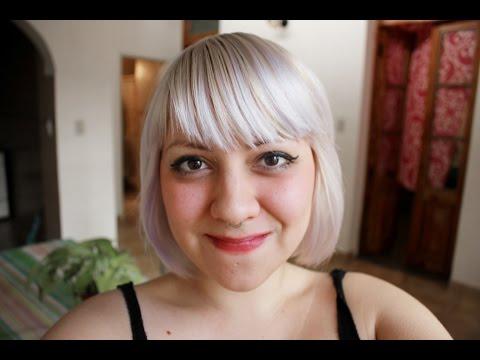 Como obtener pelo rubio platino. blanco. gris - white hair. silver hair.  ( tutorial )